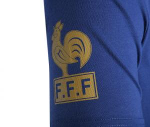 T-shirt Rétro France N°10 Bleu