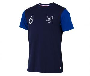T-shirt France Pogba N°6 2 étoiles Bleu Junior