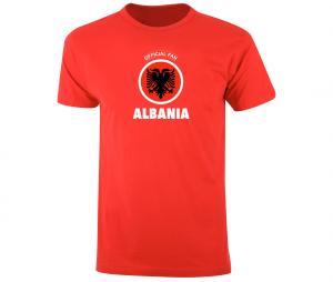 T-shirt Fan Albania Rouge