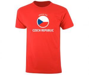 T-shirt Fan Czech Republic Rouge