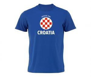 T-shirt Fan Croatia Bleu
