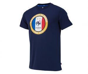 T-shirt France Champions du Monde Bleu 2 etoiles