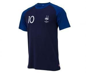 T-shirt France Mbappe N°10 Bleu 2 etoiles