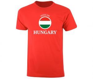 T-shirt Fan Hungary Rouge