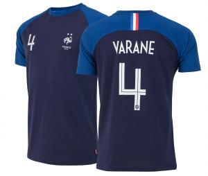 T-shirt France Varane N°4 Bleu 2 etoiles