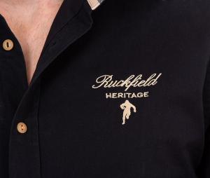 Chemise Ruckfield Rugby Héritage Noir
