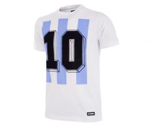T-shirt Rétro Argentine Number 10 Blanc