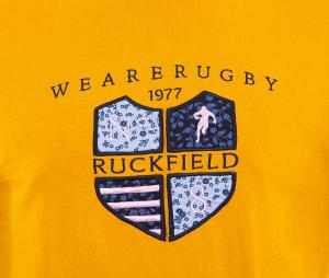 T-shirt Ruckfield We are Rugby Jaune