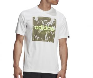 T-shirt adidas Camouflage Box Blanc
