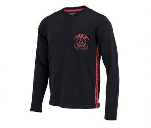 T-shirt Manches Longues PSG Pocket Stripes Noir