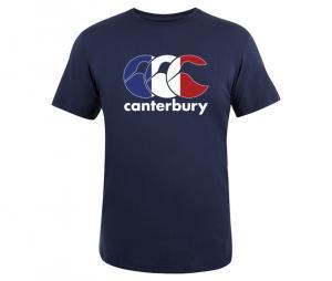 Tee-shirt Canterbury Logo France bleu