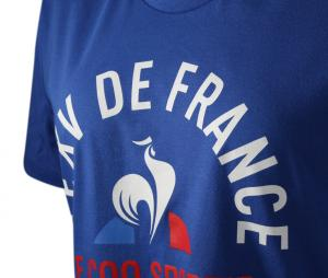 T-shirt France FFR Le XV de France Bleu Femme
