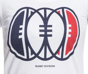 T-shirt Rugby Division Triple Blanc