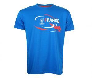 T-shirt France Coupe du Monde de Rugby 2019 Bleu