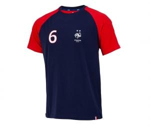 T-shirt France Pogba 6 Bleu/Rouge