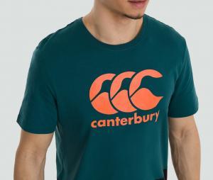 T-shirt Canterbury Logo Vert/Noir