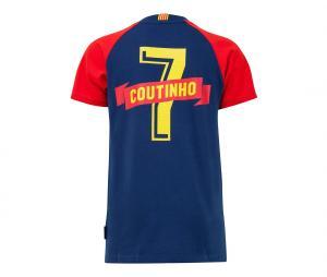 T-shirt Barça Joueur Coutinho 7 Bleu Junior