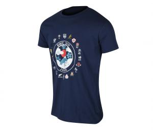 T-shirt Coupe du Monde de Rugby Japan 2019 Bleu