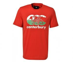 T-shirt Canterbury Pays de Galles Team Rouge