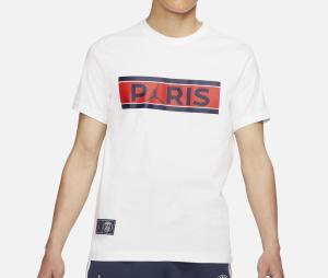 T-shirt Jordan x PSG Wordmark Blanc