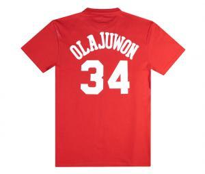 T-shirt Rockets de Houston Olajuwon Rouge