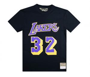 T-shirt Lakers Los Angeles Johnson Noir