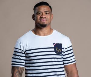 T-shirt Religion Rugby France Marinière La Française Blanc