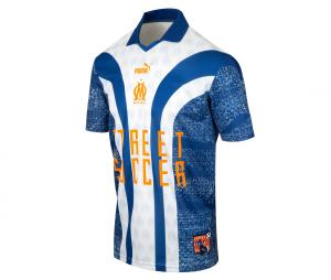 OM Street Soccer Men's Football Shirt Blue/White