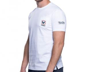 Tee-shirt France avec poche blanc