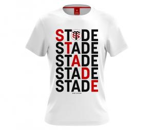 T-shirt Stade Toulousain Sudoku blanc