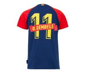 T-shirt Barça Dembélé 11 Player Bleu