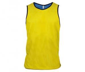 Chasuble réversible multisport jaune/bleu