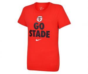 T-shirt Stade Toulousain Rouge Femme
