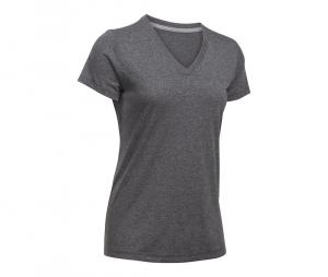 Tee-shirt Col V Threadborne Train Twist Femme Noir
