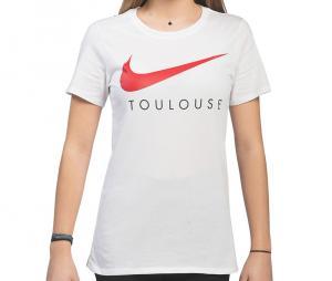 T-shirt Stade Toulousain Blanc Femme