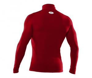 Tee-shirt ColdGear Col Turtle Compression Rouge