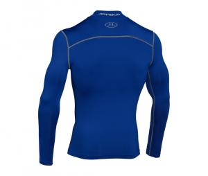 Tee-shirt ColdGear Col Turtle Compression Bleu