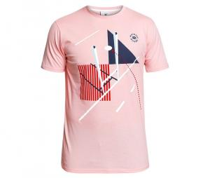 Tee-shirt Maison Rugby Scheme Rose