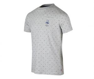 T-shirt France All Over Gris