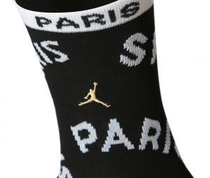 2 Paires de Chaussettes Jordan x PSG Noir/Rouge Junior