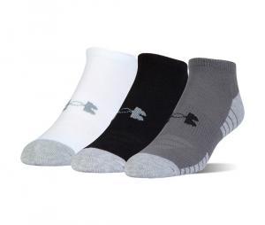 Pack de 3 paires de chaussettes HeatGear ® Tech No Show Junior Noir/Gris/Blanc