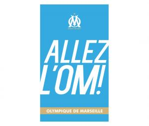 Beach towel Allez l'OM Blue