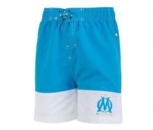 Short de Bain OM Bleu/Blanc Junior