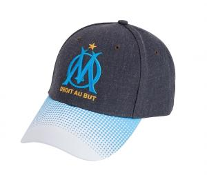 Casquette OM Logo Gris/Bleu/Blanc