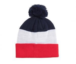 Bonnet PSG Pompon Bleu/Blanc/Rouge Junior