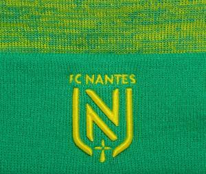 Bonnet Nantes Pompon Vert/Jaune
