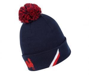 Bonnet Pompon FFR France Rugby Bleu