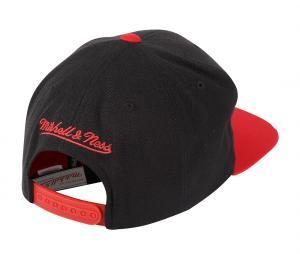 Casquette Mitchell & Ness Chicago Bulls Noir/Rouge