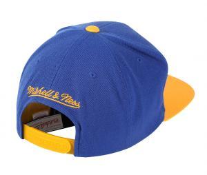 Casquette Mitchell & Ness Warriors de Golden State Bleu/Jaune