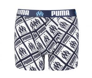 Boxer Puma OM All Over Blanc/Bleu Junior